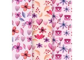 水彩画花朵花纹背景