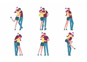 手绘情人节情侣插图