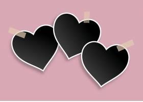 情人节黑色心形空白相框设计
