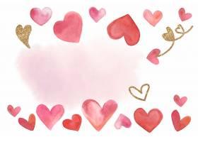 情人节背景水彩样式矢量插画
