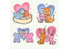 情人节动物情侣系列设计_64131130102