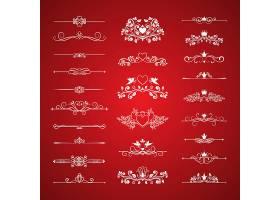 情人节页面装饰红色背景设计矢量元素_1105421401