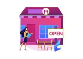 餐厅重新开放抽象概念插图大流行商务适应_107802760101