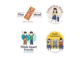 带有冠状病毒预防概念的标志设计用于品牌_112785660101