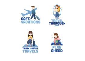 带有冠状病毒预防概念的标志设计用于品牌_112785750101