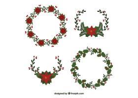 带有花卉风格的圣诞装饰品_13646850101