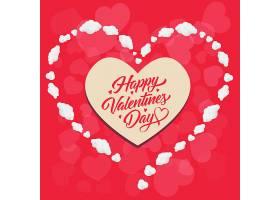 心形镜框中的情人节快乐字样_379930401