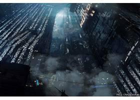 电影,叶片,跑步者,204城市,建筑物,摩天大楼,未来主义的,壁纸,(3)