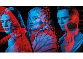 电影,深红色,山峰,汤姆,Hiddleston,米娅,Wasikowska,杰西卡,查斯