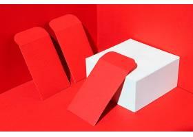 红色新年红包立体背景素材