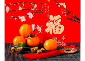 红色新年金牛背景素材