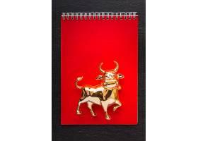新年金牛红色册子背景
