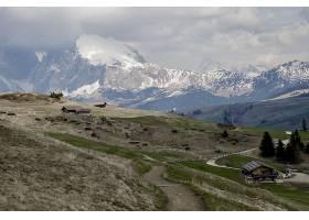 早春意大利Seiser Alm高山草甸的美丽镜头_781459401