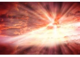 晴朗的气候高高的天空闪耀着光芒_106507001