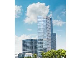现代商业建筑_124264701