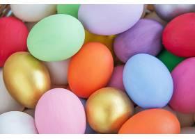 甜美多彩的复活节彩蛋背景国家节日庆祝概_435175901