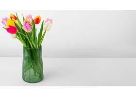 有郁金香和复印空间的花瓶_1247933101