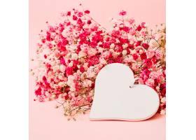 一束漂亮的婴儿口香花粉色背景上有白色的_344256001