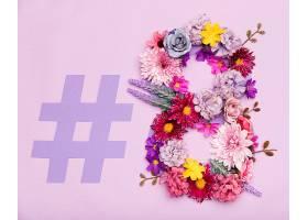 五颜六色的花卉象征妇女节_652834301