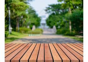 背景模糊的前面是木板空桌子透视棕色木材_138128801