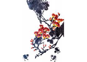 花卉背景艺术水墨美元素_120590801