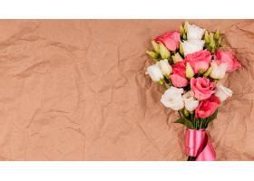 俯瞰美丽的玫瑰花花束带文案空间_1206780001