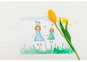 妈妈和我用绘画题字_419144801