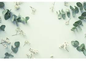 具有美丽花叶的构图_938812201
