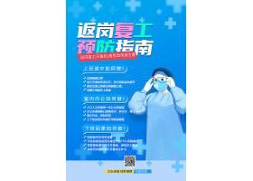 企业复工疫情防范宣传海报