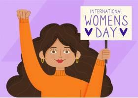 国际妇女节手绘插图_124262140101