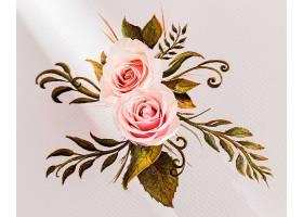 用玫瑰花特写看情人节的概念_1110631601