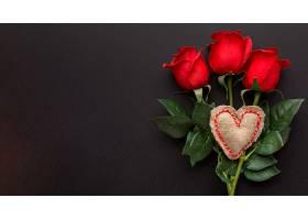 带有复制空间的情人节概念俯视图_1089288601