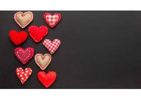 带有复制空间的情人节概念俯视图_1089288701