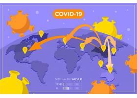 冠状病毒全球传播地图_73345010101
