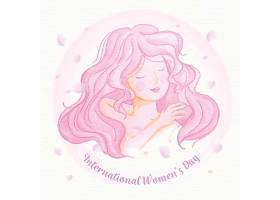 水彩画国际妇女节_122416200101