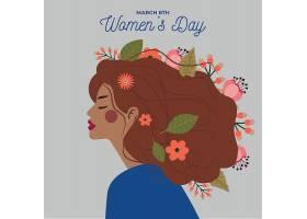 妇女节庆祝活动的花卉设计_66303980101