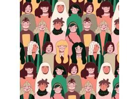 带有女性面孔的女性日图案_65839470101
