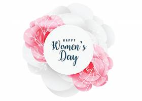 可爱的快乐妇女节花卉背景_39722530101
