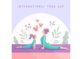 女性一起练习瑜伽_83546130101