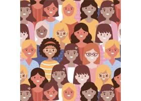 女性脸的妇女节图案_65917380101