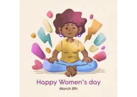 带日期的水彩画国际妇女节_121513120101