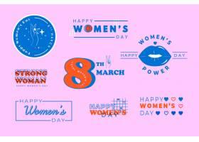 平面设计的妇女节标签系列_66782100101