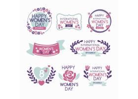 手绘国际妇女节徽章_121512920101