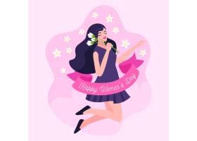 创意绘画国际妇女节插图_122416600101