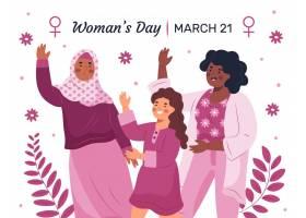 创意绘画国际妇女节插图_122416750101
