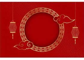 中国传统红色背景灯笼问候_121583710101