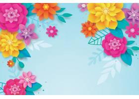 五彩缤纷的春日背景纸样_70895300101图片