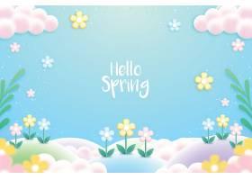 五颜六色的写实春色背景_67035250101