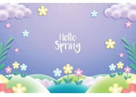 五颜六色的写实春色背景_67035250102