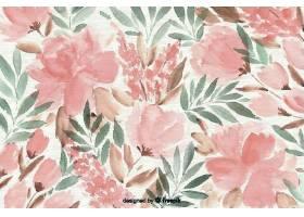 五颜六色的水彩画花卉背景_56037560101